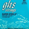 GHS ST-E9 Super Steels Stainless E9th 10 String Set