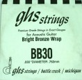 Single GHS BB30 Bright Bronze Wound Strings