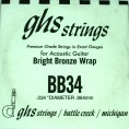 Single GHS BB34 Bright Bronze Wound Strings