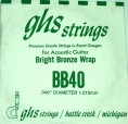 Single GHS BB40 Bright Bronze Wound Strings