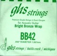 Single GHS BB42 Bright Bronze Wound String