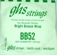 Single GHS BB52 Bright Bronze Wound Strings
