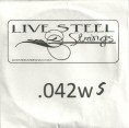 'Live' Stainless .042S Wound String